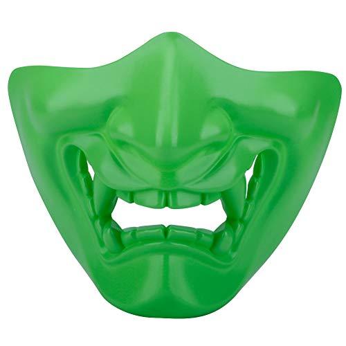 HAOYK Costume Party Cosplay Halloween Demi Visage Masque Lumineux Masque De Protection Visage Inférieur