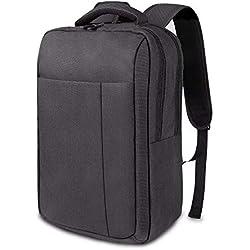 REYLEO Zaino per Computer Portatile Backpack Laptop Impermeabile Zainetto Uomo per Ufficio e Scuola (Nero) RB11