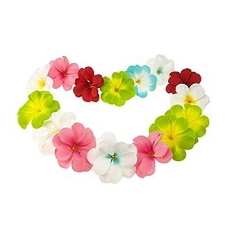 Winterworm Paquete DE 50 Flores de Seda Artificial Mixtas Hawaii Lei Plumeria Frangipani para decoración de Boda, Guirnalda y Accesorios de joyería