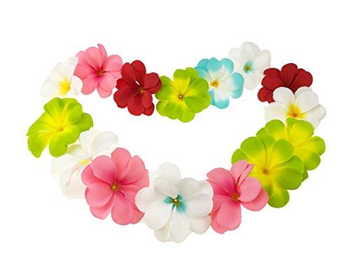 60 Stück Blumenkette Blumenketten Hawaiikette Hawaii Blumen Ketten Farbverlauf