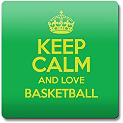 Verde KEEP CALM AND LOVE baloncesto imán color 0790