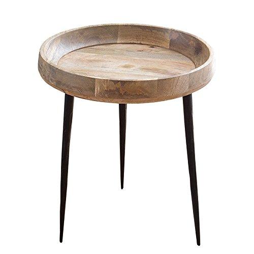 Massiver Beistelltisch PURE NATURE 47cm aus Mangoholz Holztisch Nachttisch Tisch Massivholz