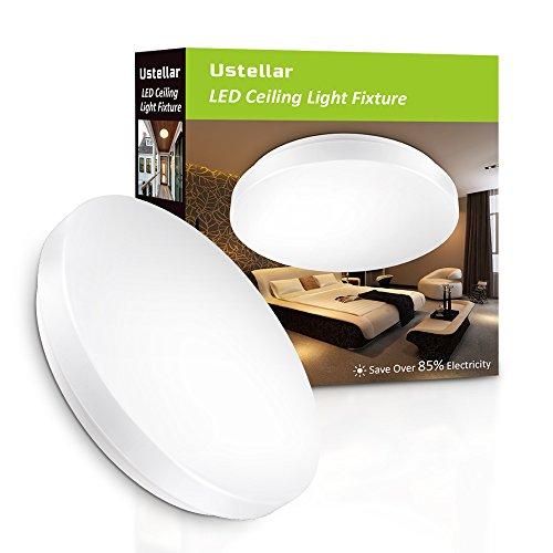 Ustellar Plafón LED Baños Cocinas 12W Impermeable IP44, Lámpara de Techo 950lm, Blanco Cálido 3000K, Equivalente a 100W de Incandescencia, Iluminación Salón