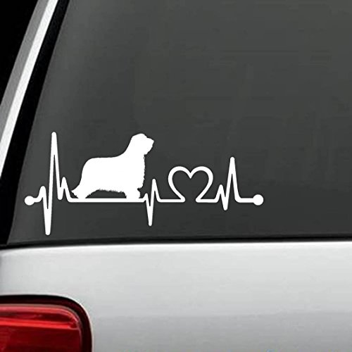 wandaufkleber 3d schlafzimmer Bearded Collie Heartbeat Lifeline Dog Decal Sticker Die Cut Decal Sticker For Windows, Cars, Trucks, Laptops, Etc (8 x 3.5 inches) (Installieren 8 Windows)
