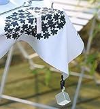 Venilia Tischtuchbeschwerer Würfel Clip Tischtuchhalter Tischdeckengewichte aus PVC und Metall, Silber, 8 x 2,5 x 2,5 cm, 54203 - 2