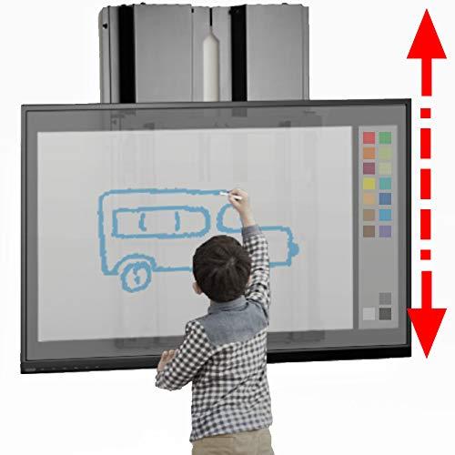 BalanceLift para Pizarra interactiva y Pantalla táctil LED/LCD de 23-40 kg de Peso, Ajuste de Altura Deslizante con 2 Dedos