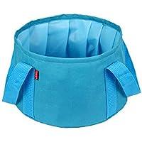 Time4Deal® Water Bag nylon impermeabile esterna pieghevole Lavabo portatile per viaggio di campeggio - Blu