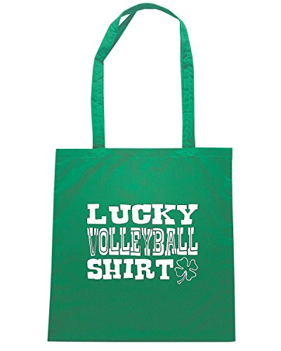 T-Shirtshock - Borsa Shopping OLDENG00850 lucky volleyball shirt Verde