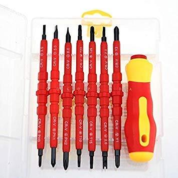Sellify Rarido 14 IN 1 MagneticSet multi-usages tournevis pour la famille couramment utilisés Outils 2028 - (Couleur: blanc 2028): 2028 blanc