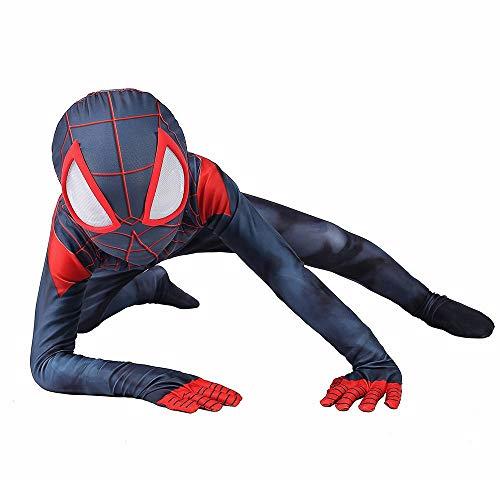 Spiderman Cosplay Miles Morales Spiderman Anime Kostüm Rollenspiele Kleidung Bodysuit Spandex Jumpsuits Kostüm Kinder - Miles Morales Kostüm Kinder