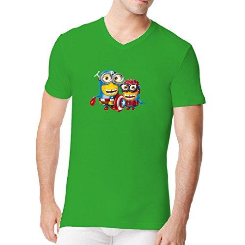 roes cooles Fun Men V-Neck - Kelly Green XXL (Blockbuster Kostüm)