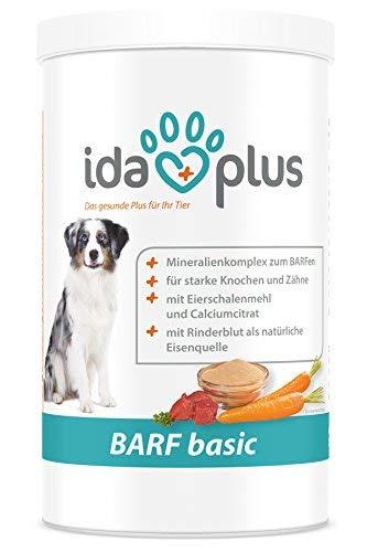 Ida Plus - Barf Basic Hundefutter Zusatz - Alle notwendigen Mineralstoffe für Hunde   Starke Knochen und Zähne - Versorgung für bis zu 140 Tage   Aus natürlichen Zutaten (700 g)