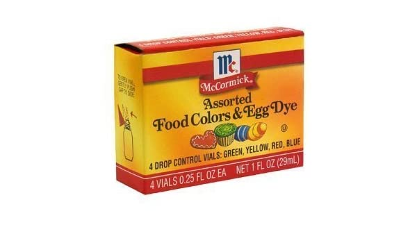 Buy McCormick Food Colors & Egg Dye, Four Assorted, 0.25-Ounce Vials ...