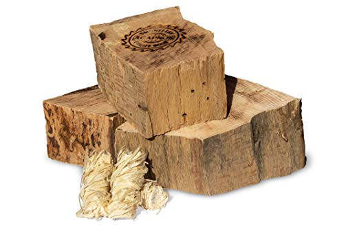 10 kg Acapnos Qualitäts-Brennholz/Kaminholz Buche 5cm Scheiben inkl. Grillanzünder für Feuerschale, offenes Feuer, Grill und Kaminofen