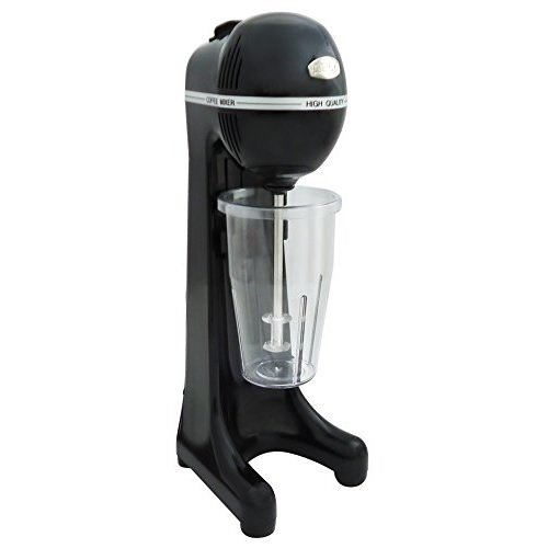Johny Frappe Maker – 400 Watt 2 Speed Commercial Drink Mixer – Electric Milk Shake Maker/AK/2-2T-ECO (Black)