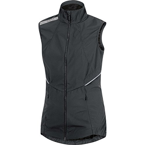 GORE WEAR Damen Weste Air Wndstopper Active Shell Vest, Black, 36