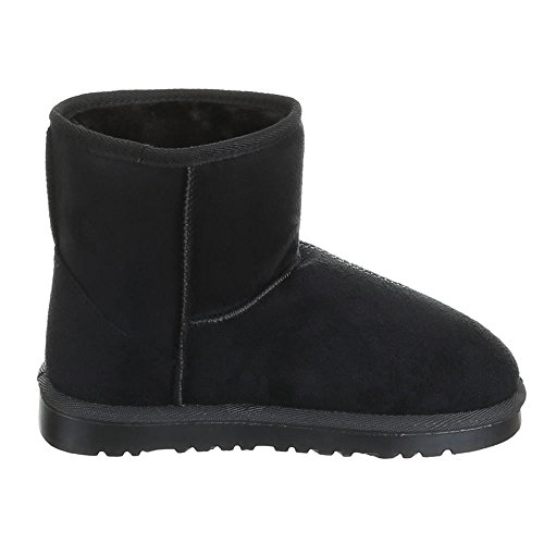 Ital-Design, 502, Boots chaud doublée stiefelettten Noir - Noir