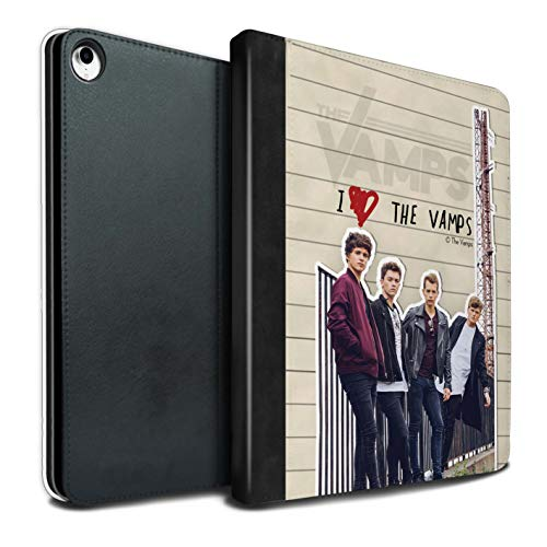 The Vamps PU Pelle Custodia/Cover/Caso Libro per Apple iPad PRO 12.9 2018/3rd Gen Tablet/Banda Diario Segreto Disegno