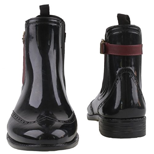Gosch Shoes Sylt - Donna Chelsea Stivali di gomma Caucciù naturale 7103-502 in 3 Colori Nero