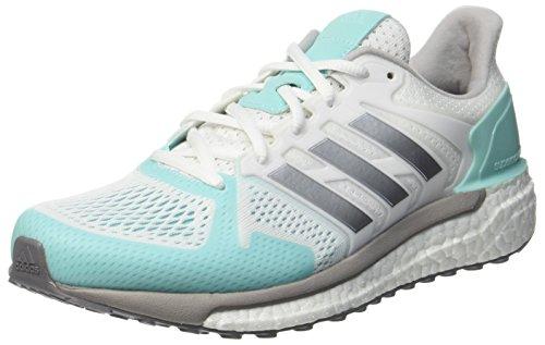 adidas Damen Supernova ST Laufschuhe, Weiß (Footwear White/Silver Metallic/Energy Aqua), 38 EU (Nike Laufschuh Damen Mint)