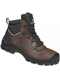 Maxguard CLINT 900232 - Zapatos de protección de cuero para unisex-adultos, color marrón, talla 49