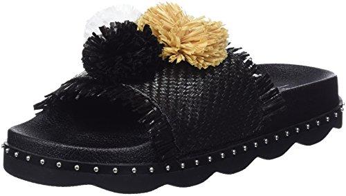 Sixty Seven Womens Belle Flip Flops, Black (Traf Black/Raffia Black), 7 UK