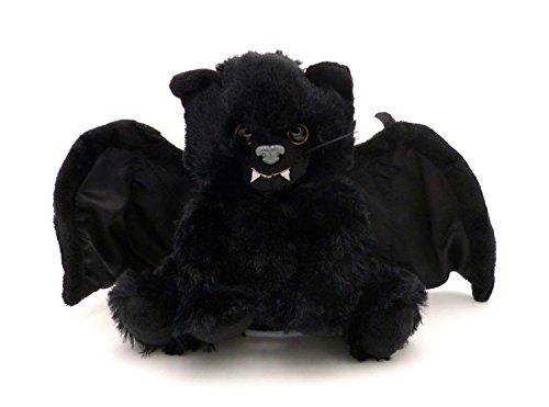 BOBBL Bat Kitten Fledermaus-Kätzchen schwarz - nachäffende Katze Biegbare Flügel -Aufnahmefunktion