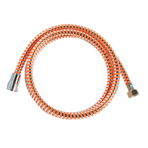 takestop Flessibile per Doccia PVC Arancione Acciaio 1.8M 1/2 Tubo ESY_52892 DOCCETTA MONOGETTO Attacco Universale Bagno