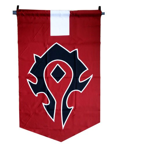 World of Warcraft WoW Flagge Allianz oder Horde Banner WoW Fahne 60x95cm (Horden)