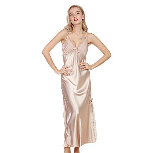 BOYANN Vestaglie e Kimono Pizzo Decorato Pigiami e Camicie da Notte Donna Marrone chiaro