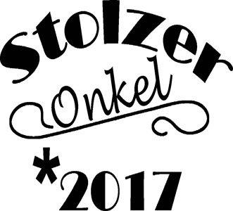 Mister Merchandise Herren Men V-Ausschnitt T-Shirt Stolzer Onkel 2017 Tee Shirt Neck bedruckt Schwarz