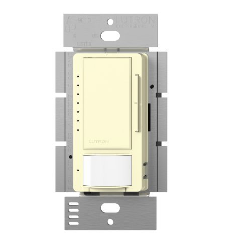 Lutron Maestro LED Dimmer switch with motion sensor, no neutral required, MSCL-OP153M-AL, Almond by Lutron