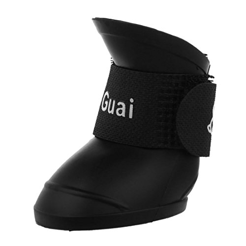 TOOGOO £ ¨R £ Black S, Pet Shoes Rubber Ankle Boots Waterproof Dog Rain Boots