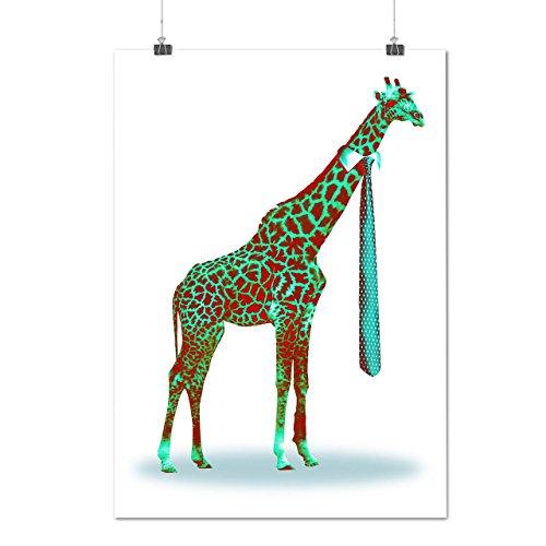 tall-giraffe-necktie-business-matte-glossy-poster-a4-30cm-x-21cm-wellcoda