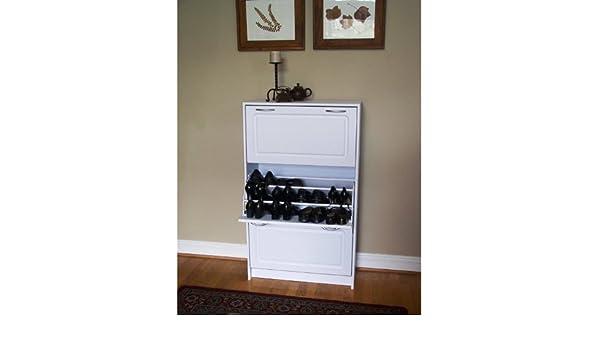 4D Concepts Deluxe Triple Shoe Cabinet, White: Amazon.co.uk ...