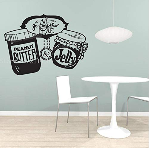cker Peanut Butter And Jelly Decals Home Decor For Kitchen Dinning Room Self-Adhesive Cool Art Murals 57x42cm ()