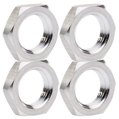 1:8 Radmuttern silber 17 mm 6-Kant 4er Set partCore 310016