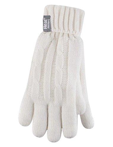Heat holders- guanti in maglia termica, da donna, 2,3tog, tagliam winter white taglia unica