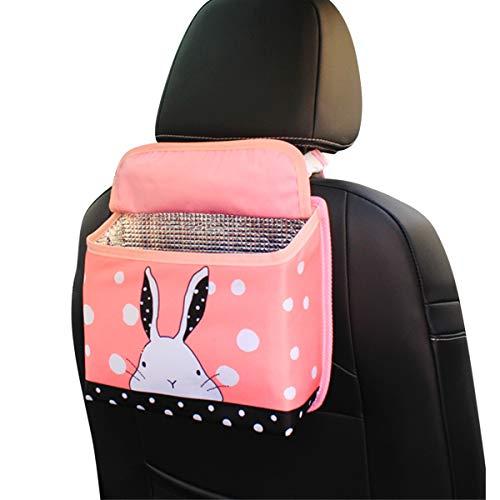 er niedlichen Cartoon Auto Rücksitz Tasche Autositz Organizer Isolierbeutel aus Aluminiumfolie hängen Aufbewahrungsbox für Kinder (Hase) ()
