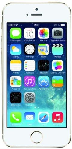 Apple iPhone 5s Smartphone débloqué 4G (Ecran : 4 pouces - 32 Go - iOS 7) Or