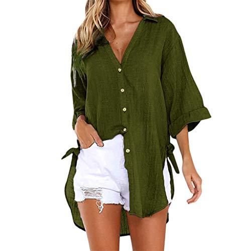 7105a70e03938 Leey Femme Tunique Femme Tops Dentelle Hauts Chic Ete Casual Blouse Tee  Shirt Plage Loose Coton