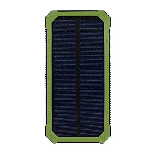 Cargador Solar 20000mAh, Zolimx Universal Portátil USB Doble Cargador de...
