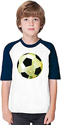 Galaxy Football Soft Material Baseball Kids T-Shirt by Benito Clothing - 100% Organic, Hypoallergenic Cotton- Casual & Sports Wear - Unisex for Boys and Girls 12-14 years