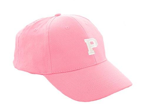 Unisex Jungen Mädchen Mütze Baseball Cap Rosa Hut Kinder Kappe A-Z Letter MFAZ Morefaz Ltd (P) (Lakers Snapback Hut)