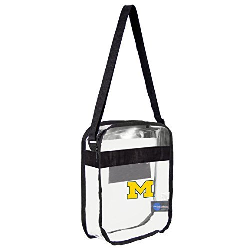 ncaa-michigan-wolverines-clear-carryall-crossbody-bag-by-littlearth