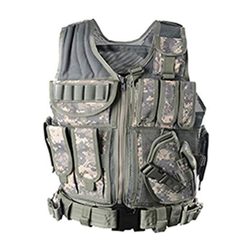 GRZP Sommer Taktische Weste, Jagdweste CS Feld Outdoor Army Fan Ausrüstung Liefert Atmungsaktive Camouflage Kleidung Trainingsuniformen (Farbe : ACU)