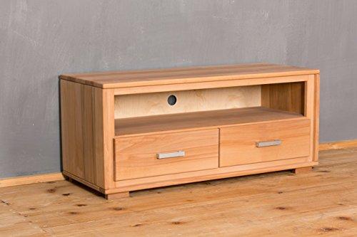 TV Lowboard Genf 2 Schubläden - Kernbuche Massivholz geölt/gewachst, Ausführung der Schubladen:mit normalen Auszug