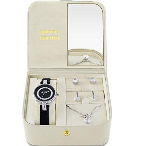 Pierre Cardin Set da regalo per donna elegante e gioielli in argento