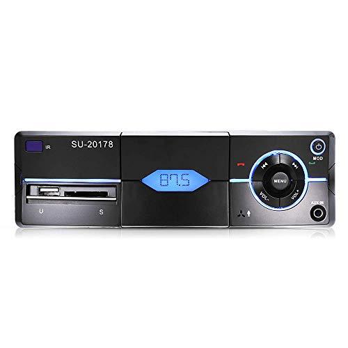 Autoradio für Bluetooth, Single Din, integriertes Mikrofon, Telefonhalterung, Freisprechfunktion, FM-Radio-Empfänger, USB/SD/AUX-Anschluss, unterstützt MP3/WMA/WAV, kabellose Fernbedienung
