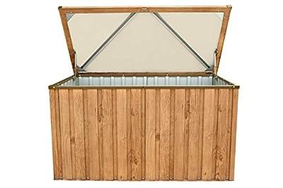 Tepro Metall-Gerätebox Kissen-Box Garten-Schrank 590 Liter Gartentruhe in Holz-Optik Eiche von Tepro auf Du und dein Garten